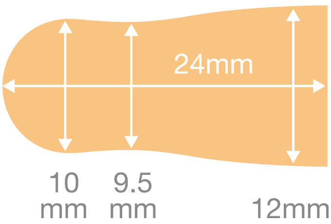 抗菌耳栓emuteの寸法図